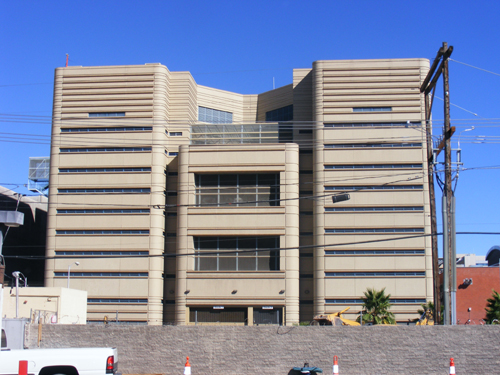 Clark County Detention Facility - Downtown Las Vegas -  Back View