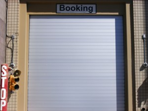 Booking Entrance Security Door at the Clark County Detention Facility Downtown Las Vegas