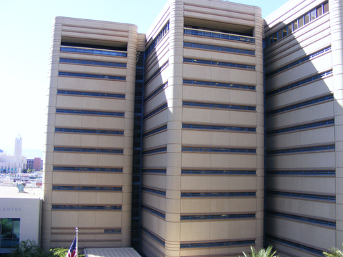 Clark County Detention Facility - Downtown Las Vegas - Side View