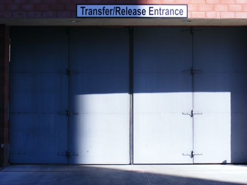 Transfer Release Entrance Security Door at the Clark County Detention Facility Downtown Las Vegas