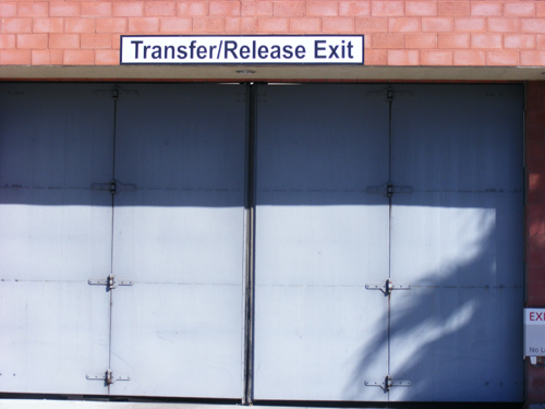 Transfer Release Exit Security Door at the Clark County Detention Facility Downtown Las Vegas