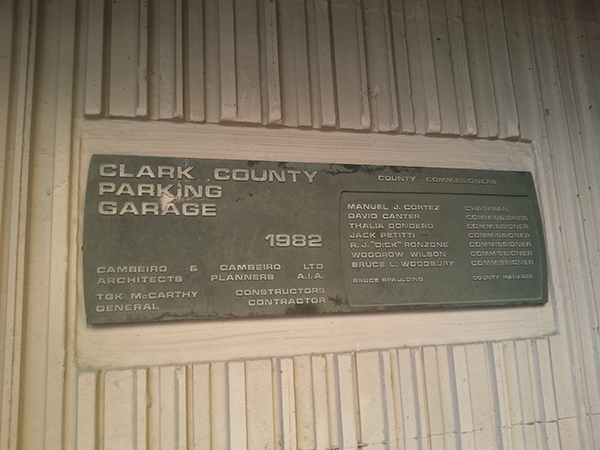 Clark County Detention Facility Parking Garage